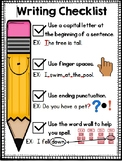 Writing Checklist for Primary Writers