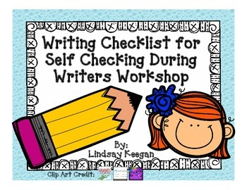 Writing Checklist for Self Checking