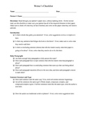 Writing Checklist for Students