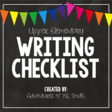 Writing Checklist for Upper Elementary Students