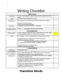 Writing Checklist for Writing Process