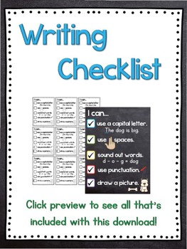 Writing Checklist for the Pencil Box