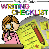 Post It Note Writing Checklist {Print on Cardstock or Post It Notes}