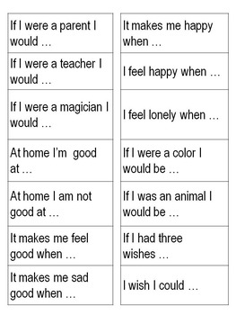 Writing Checklists, Conferences and Sentence Starters