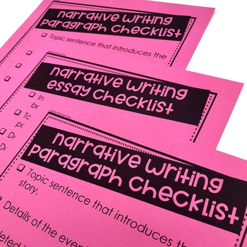 Writing Checklists EDITABLE!