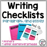 Writing Checklists EDITABLE!