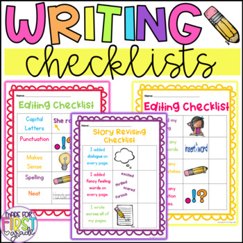 Writing Checklists for Editing and Revising: Writer's Workshop