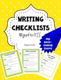 Writing Checklists (aligned to CCSS)