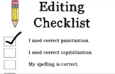 Writing Checklists and Cover for Folders EDITABLE