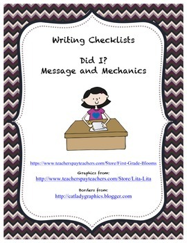 Writing Checklists and anchor charts
