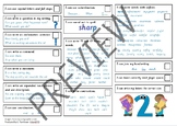 Writing Checklists for Years 1 to 6 (UK)