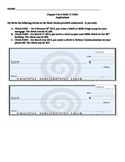 Writing Checks, Check Registers and Consumer Price Index Activity Worksheet