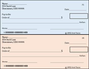 Writing Checks-Task Cards