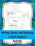 Writing Checks and Balancing a Check Register Activity