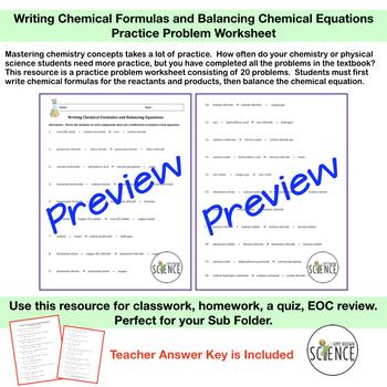 Chemical Formulas and Balancing Chemical Equations