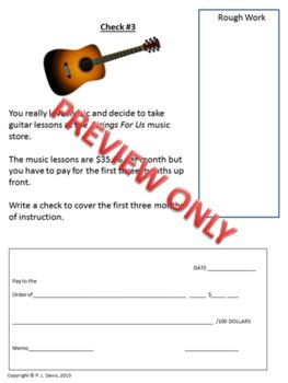 Writing Checks Writing Cheques Intermediate