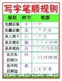Writing Chinese Rules Chart 中文写字笔顺规则表
