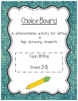 Writing Choice Board