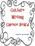 Writing Choice Board - Culture Pictures
