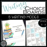 Writing Choice Board {Narrative, Expository, Research, Per
