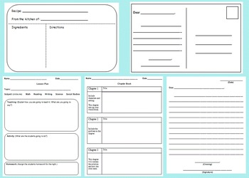 Writing Choice Boards and Activities