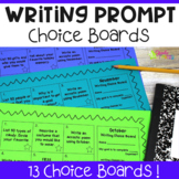 Writing Prompts For Kids Choice Boards