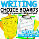 Monthly Themed Writing Prompts   Print and Digital