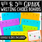 Writing Choice Boards [4th-6th Grade}