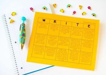 Writing Choice Boards [4th-6th Grade}