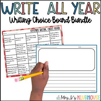 Writing Choice Boards BUNDLE
