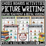 Digital Choice Boards: Picture Writing Prompts 2nd-3rd Grade, Early Finishers