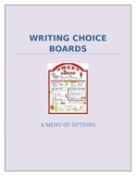 Writing Choice Boards for Middle School