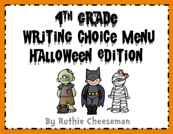Writing Choice Menu Halloween Edition