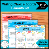 5th Grade Writing Choice board 10 month set