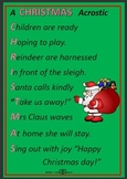 Writing Christmas poems with early childhood students