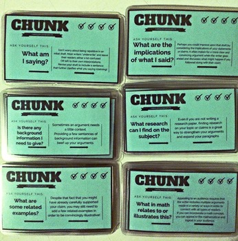 Writing Chunk Task Cards: Making Your Paragraphs (Revision) Fat, Set of 37