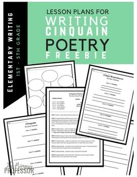 Writing Cinquain Poems FREEBIE for Grades 1-5