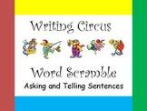 Writing Circus Word Scramble