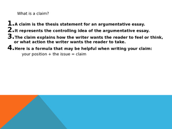 Writing Claims Lesson