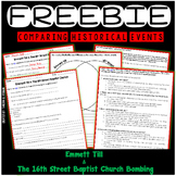 Emmett Till and The 16th Street Bombing - FREEBIE