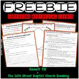 Emmett Till and The 16th Street Bombing - FREEBIE