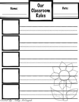 Writing Classroom Rules