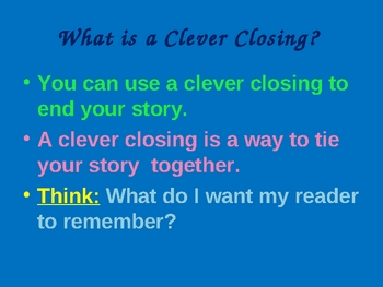 Writing Clever Closings