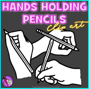 Hands holding pencils clip art (12 images)