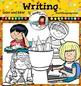 Writing Kids 2 Clip Art- Color and B&W