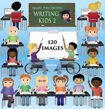 Clip Art- Kids Writing 2
