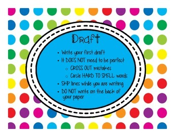 Primary Dots Writing Clip Chart