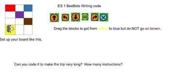 Writing Code with Beebot