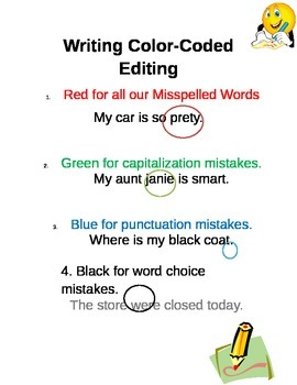 Writing Color-Coded Editing
