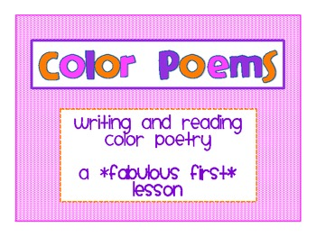 Writing Color Poems